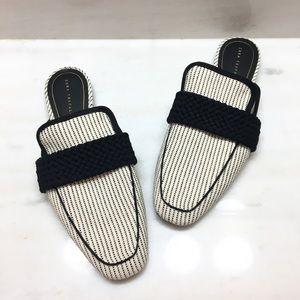 Zara Trafaluc | Pinstripe Slip On Loafers 40